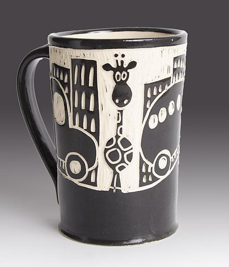 Giraffe in the City Mug