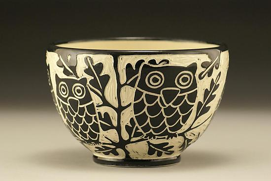Owl Bowl By Jennifer Falter Ceramic Bowl Artful Home