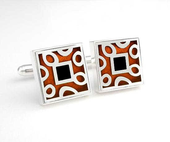 Spots and Dots cuff links