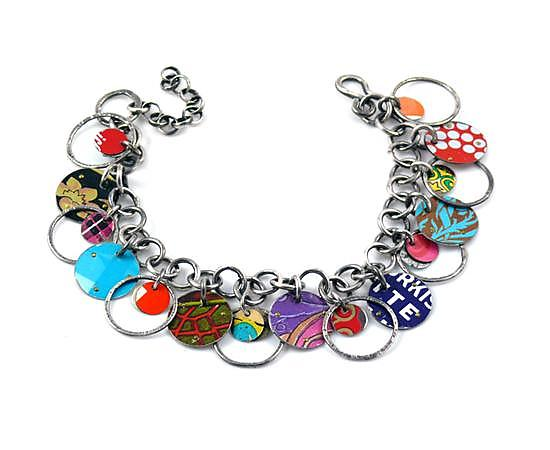 Orbit Recycled Tin Convertible Bracelet & Necklace