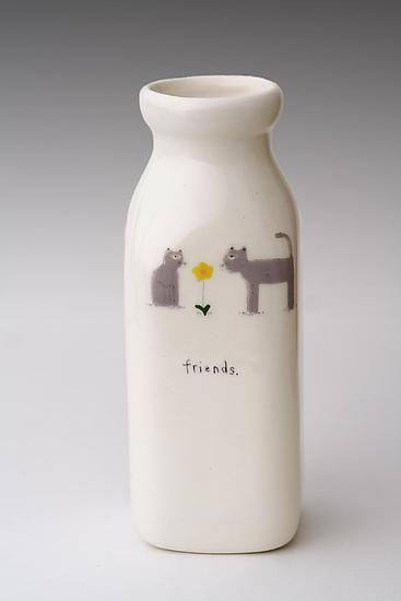 Friends Milk Bottle Vase
