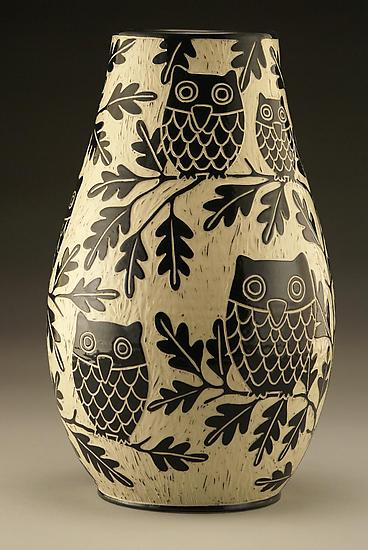 Owl Family Vase: Large
