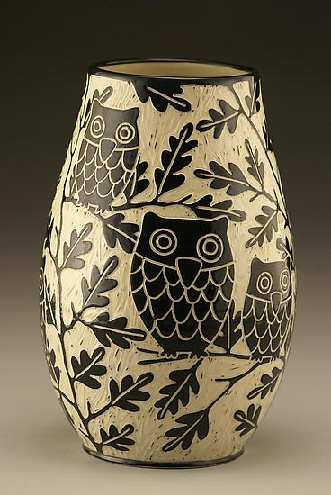 Owl Family Vase: Small