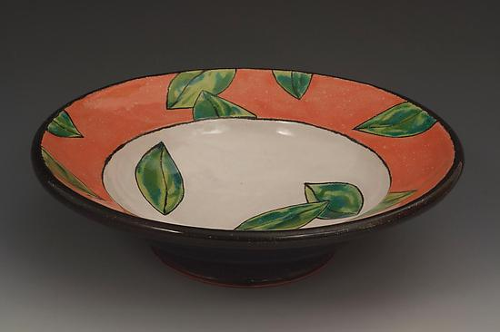 Coral Leaf Serving Bowl