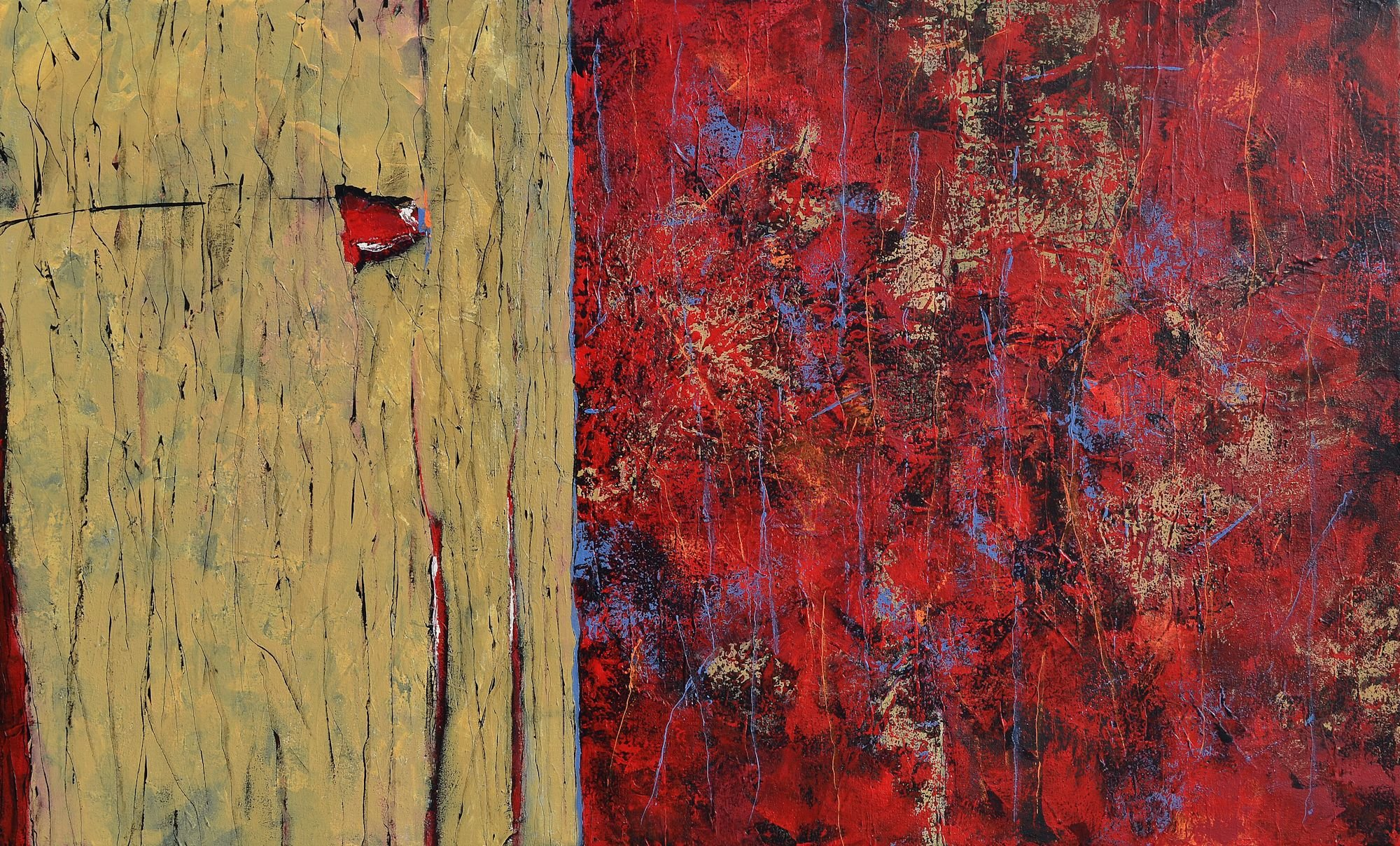 Rustic And Red By Nancy Eckels Acrylic Painting Artful