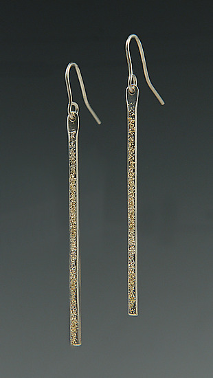 Gold Dust Stick Earrings