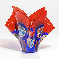 Bird of Paradise Glass Vessel by Varda Avnisan (Art Glass Vessel)