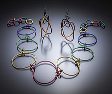 Oval Bib Necklace and Earrings by Sylvi Harwin (Aluminum Jewelry)