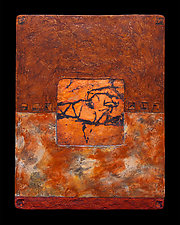Earth and Fire M Single Light by Kara Young (Mixed-Media Wall Hanging)