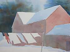 Winter Wash by Suzanne Siegel (Watercolor Painting)
