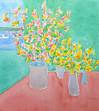 Breakfast with Matisse III by Suzanne Siegel (Watercolor Painting)
