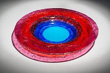 Blue Moon by Varda Avnisan (Art Glass Bowl)