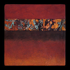 Canyon Walls 12x12 Rose/ Blue by Kara Young (Mixed-Media Wall Art)