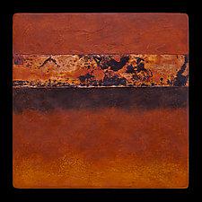 Canyon Walls: OOO 12x12 by Kara Young (Mixed-Media Wall Hanging)