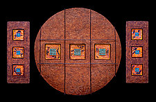 Jewels from Within 3 Set/ Circle 30 / 2- M1/2s by Kara Young (Mixed-Media Wall Art)