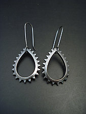 Large Velocity Teardrops by Tavia Brown (Silver Earrings)