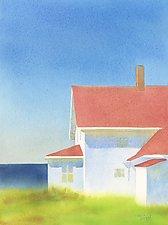 Indigo Sea, Monhegan by Suzanne Siegel (Giclee Print)