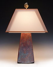 Equinox Lamp by Mary Obodzinski (Ceramic Table Lamp)