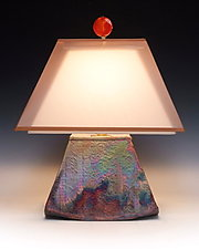 Morning Star Lamp by Mary Obodzinski (Ceramic Table Lamp)