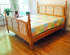 Sculpted King Bed by John Wesley Williams (Wood Bed)