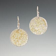 Gold Dust Disk Earrings by Dean Turner (Gold & Silver Earrings)