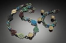 Aluminum Bead Necklace & Bracelet by Sylvi Harwin (Aluminum Jewelry)