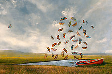RedCanoe by Patricia Barry Levy (Giclee Print)
