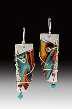 Barbara Earrings by Sue Savage (Silver & Polymer Clay Earrings)
