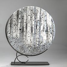 White Forest by Varda Avnisan (Art Glass Sculpture)