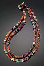 Anasazi Necklace, Hibiscus by Julie Powell (Beaded Necklace)