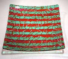 Emerald Platter by Varda Avnisan (Art Glass Platter)