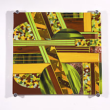 Composition # 2 by Varda Avnisan (Art Glass Wall Sculpture)