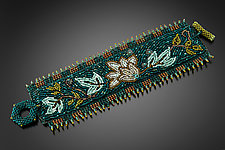 William Morris Floral Cuff by Julie Powell (Beaded Bracelet)