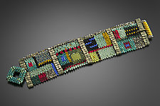 Colorfield Cuff by Julie Powell (Beaded Bracelet)