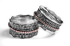 Woven Spinner Rings by Linda Bernasconi (Gold & Silver Rings)