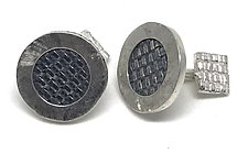 Woven Cuff Links by Linda Bernasconi (Silver Cuff Links)