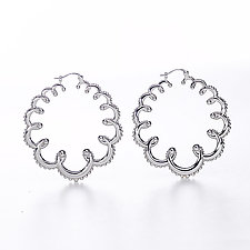 Garland Hoop Earrings by Ellen Himic (Silver Earrings)