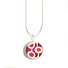 Mini Pendant by Victoria Varga (Silver & Resin Necklace)
