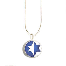 Split Jewish Star Pendant by Victoria Varga (Silver & Resin Necklace)
