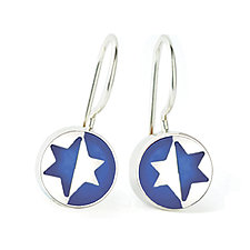 Jewish Star Earrings by Victoria Varga (Silver & Resin Earrings)