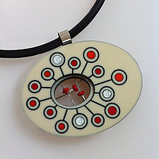 Palette Pendant by Victoria Varga (Silver & Stone Necklace)