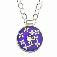 Clover Pendant by Victoria Varga (Silver & Resin Necklace)