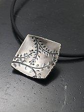 Echoes Large Square Pendant by Tavia Brown (Silver Necklace)