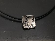 Echoes Small Square Pendant by Tavia Brown (Silver Necklace)