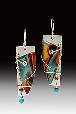 Barbara Earrings by Sue Savage (Silver & Polymer Clay Earrings)