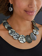 Big D Graduated Necklace by Louise Fischer Cozzi (Polymer Necklace)