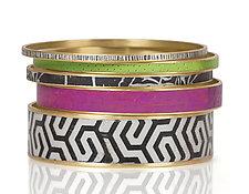 Bangle Bracelets by Louise Fischer Cozzi (Polymer Clay Bracelet)