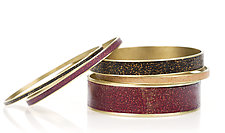 Glittering Bangles by Louise Fischer Cozzi (Polymer Clay Bracelet)