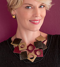 Double Savane Necklace by Louise Fischer Cozzi (Polymer Clay Necklace)