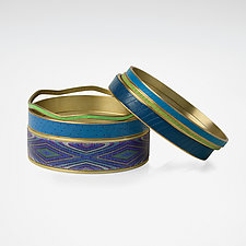 Pacific Bangle Bracelets by Louise Fischer Cozzi (Polymer Clay Bracelet)